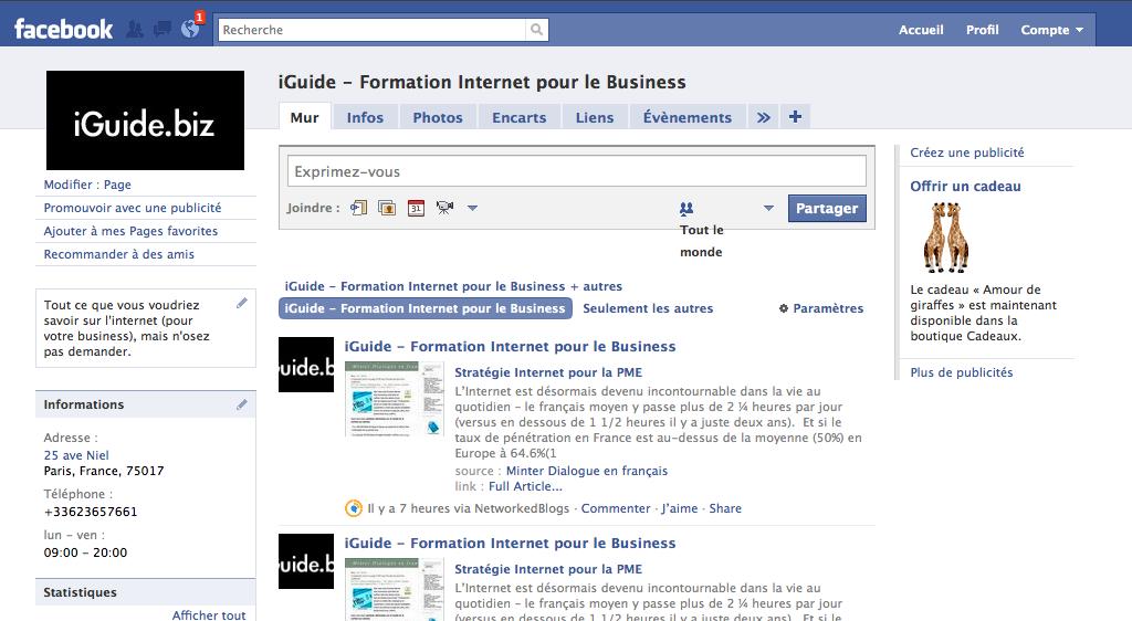 iGuide Facebook Fan Page