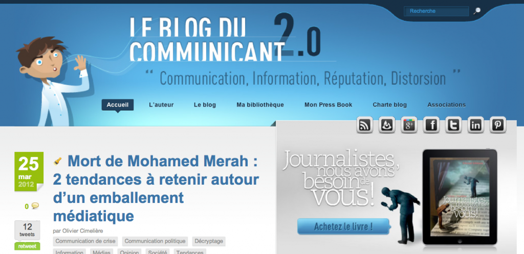 Le Blog du Communicant 2.0, on The Myndset Digital Marketing
