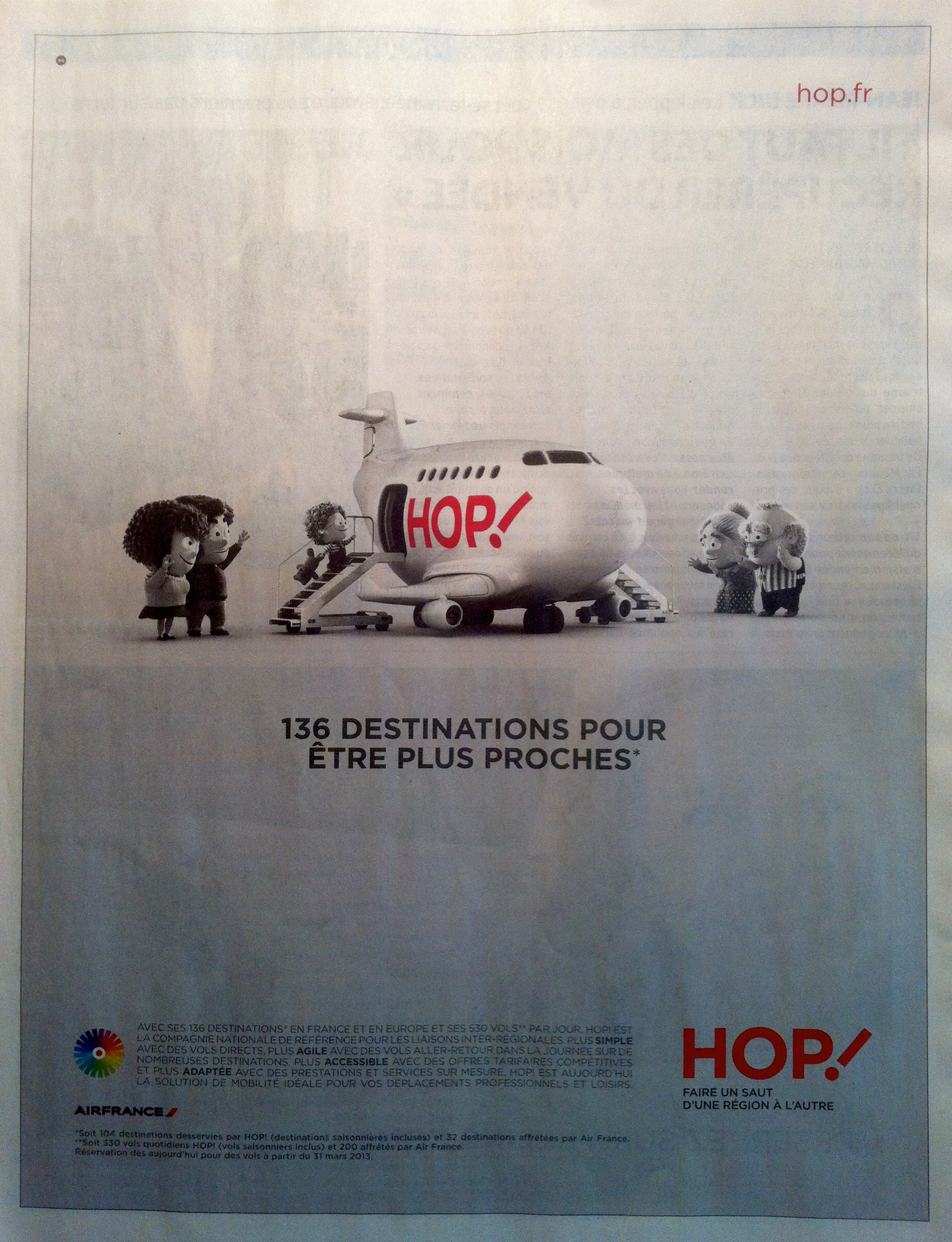 Air France HOP publicite, The Myndset Digital Marketing et Strategie de marque